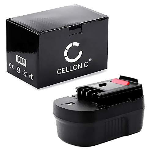CELLONIC® Premium Akku (14.4V, 3Ah, NiMH) kompatibel mit Black & Decker CD14S / CD14SFK / CL14 / CL14K / CP14 / CP14K / CP141 / CP141K - A14, A1714, HPB14 Ersatzakku Batterie Werkzeugakku