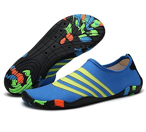 DYJXIGO Zapatos de natación Buceo Zapatos de agua Deportes, Zapatos de playa al aire libre, Zapatos de playa de suela suave River Upstream Zapatos, Descalzo, Antideslizante Zapatos de vadeo N-38