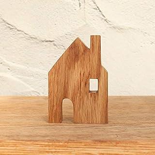 はーとぼっくす工房 えんとつのおうち オブジェ ハウス 家 お家 置物 木製 北欧 雑貨 インテイリア