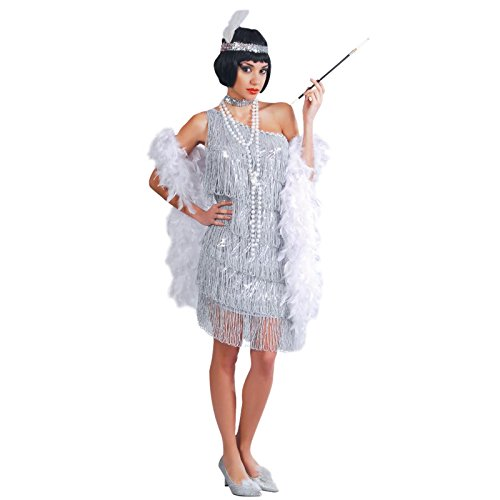 Guirca 80488 Charleston Année 20'30 Costume Argenté Taille Unique