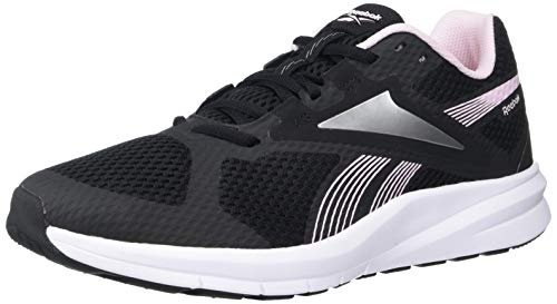 Reebok Women's Endless Road 2.0 Running Shoe, Black/White/Pixel Pink, 9 M US