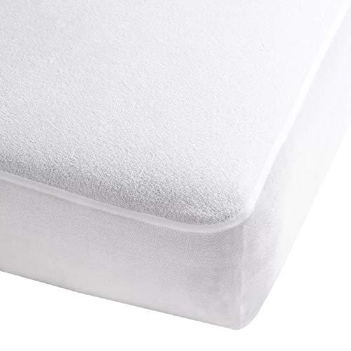 Mosley Protector de Colchón Repelente a Líquidos Color Blanco Anti Acaros (Matrimonial)