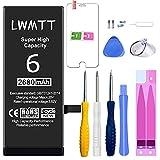 Batterie pour iPhone 6 Kit d'outils de réparation Remplacement 2680mAh avec une batterie de remplacement PUISSANTE de plus grande capacité [Version améliorée]
