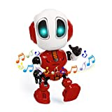Refasy Talking Robot Toys for Kids, Mini Robot Toys Repeats What You Say with Flashing Lights and Touch Control, Children Toys Gifts for Boys and Girls Age 3 4 5 6 7 8 9