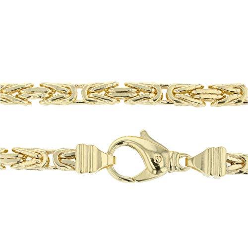 Koningsketting, 7 mm, 585 goud, 240 g. Geelgoud 14 karaat 70 cm heren gouden ketting