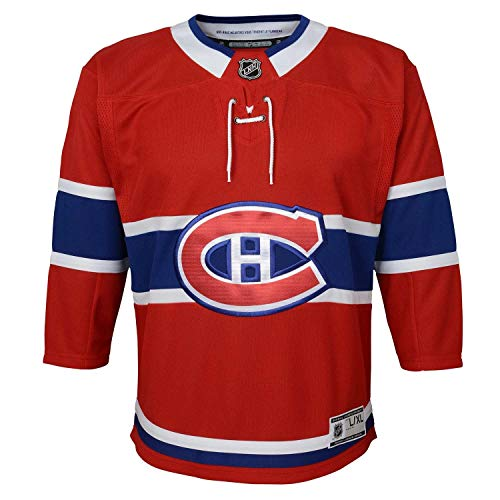 NHL Outerstuff Montreal Canadiens Premier Youth Trikot Home Rot (Kinder), S/M (YTH)