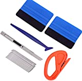 Vehicle Vinyl Wrap Window Tint Film Tool Kit Include 4 Inch Felt Squeegee by 3M, Retractable 9mm Utility Knife and Snap-off Blades, Zippy Vinyl Cutter and Mini Soft Go Corner Squeegee for Car Wrapping