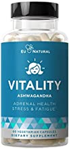 Vitality Adrenal Support, Cortisol Manager, Fatigue Fighter – Stress Relief, Healthy Cortisol, Focused Energy – Ashwagandha, Magnesium, L-Tyrosine – 60 Vegetarian Soft Capsules