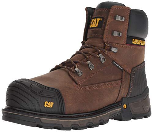 "Caterpillar mens Excavatorxl 6"" Wp Construction Boot, Dark Brown, 10 US"