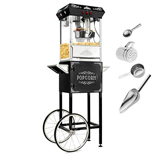 Check Out This Olde Midway Vintage Style Popcorn Machine Maker Popper with Cart and 8-Ounce Kettle -...
