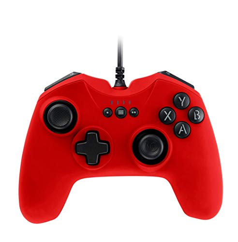 Nacon - Controlador Gaming, Color Rojo (Windows XP, Vista, 7, 8, 10)