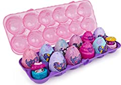 8 EXCLUSIVE CHARACTERS: Each 12-Pack includes 2 of 8 Secret Snacks characters hiding inside their favorite desserts! Pop each treat open to reveal your exclusive characters, found only in the 12-Pack! COSMIC CANDY HATCHIMALS: These Hatchimals are ful...