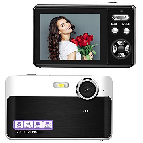 Digitalkamera Kompaktkamera 24MP Fotoapparat Digitalkamera 2,4 Zoll LCD-Bildschirm Fotokamera 3-facher Digitalzoom Vlog Kamera Günstig mit Makrofunktion für YouTube