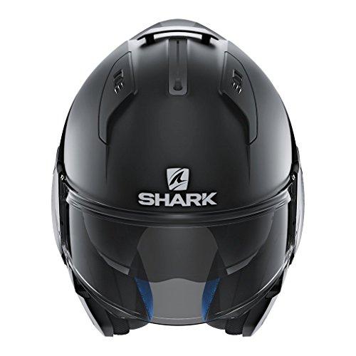 Shark HE9702DKMAKS Unisex-Adult Flip-Up Helmet (Matte Black, KS - 63-64 cm - 24.8-25.2