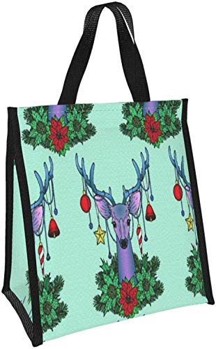 Bolso de mano de ciervo de Navidad de moda portátil para mu