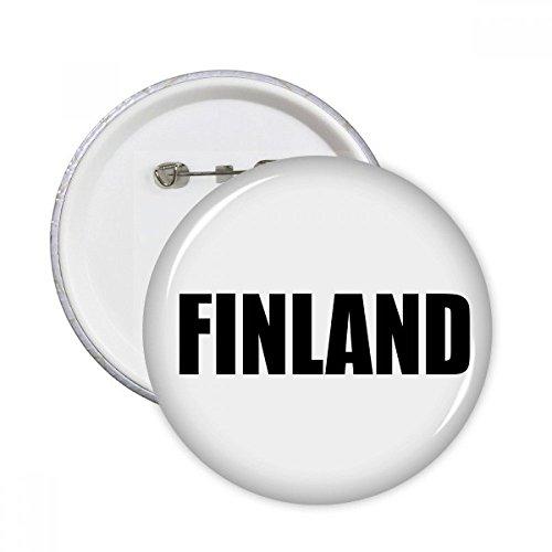 DIYthinker Finnland Land Name Schwarz Runde Stifte Abzeichen-Knopf Kleidung Dekoration 5pcs Geschenk Mehrfarbig S