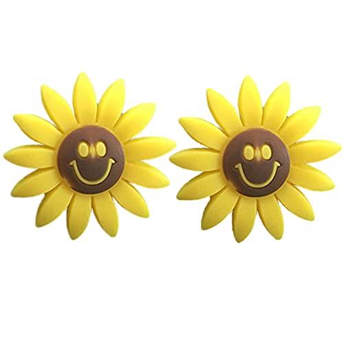 DERMASENS Sunflower Air Outlet Fragrant Perfume Clip, Sunflower Car Accessories, Sunflowers Gift Decorations Car Clip Interior Air Vent Decor Freshener Diffuse (B 2Pcs)