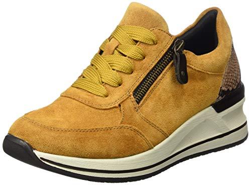 Remonte Damen D3204 Sneaker, Gelb 68, 39 EU