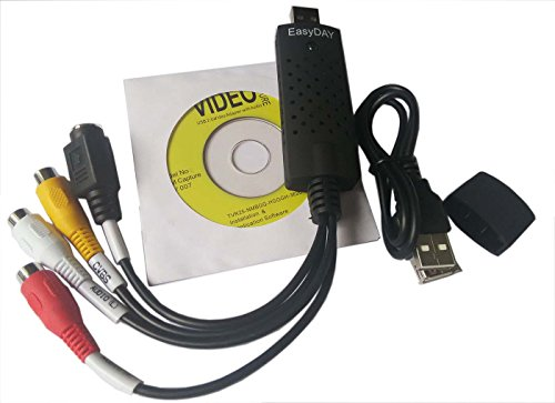 Genuine EzCAP DC 60 USB 2.0 VHS to DVD Video Capture Card Adapter Converter EasyCap Grabber for Win 7 8 10