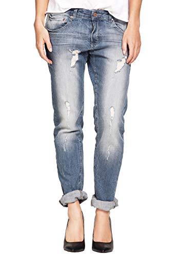 ellos Women's Plus Size Boyfriend Jeans - 14, Distressed Multicolored