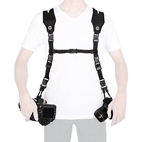 Custom SLR Dual Camera Strap Kit - Makes a Harness Strap for Two Cameras (KIT ONLY. Glide Straps Sold Separately)