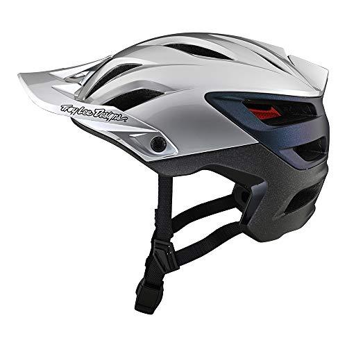 Troy Lee Designs Casco de bicicleta A3 MIPS Uno Silver/Electro Medio/Grande