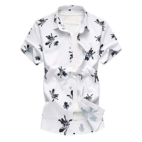 Camisas de Manga Corta para Hombre Camisas Informales de Manga Corta de Gran tamaño con Estampado de Estilo Chino de Verano Camisas Informales de Moda XL
