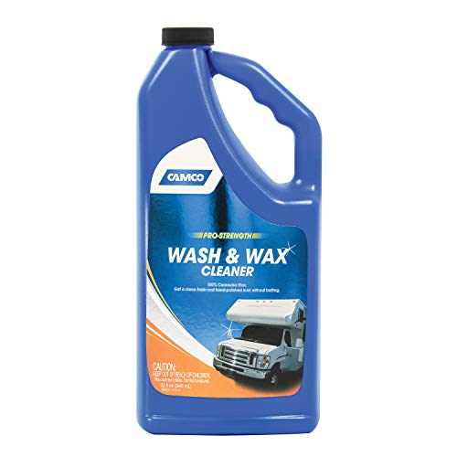 camco rv waxes Camco 40493 Pro-Strength Wash and Wax - 32 fl. oz.