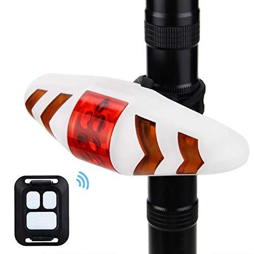 Hereforth Fahrrad Rücklicht, Licht für Fahrrad Fahrrad MTB Drahtlose Fernbedienung LED Schwanz Vorne Blinker Licht Lampe für Rennrad MTB Radfahren,Camping usw Weiß
