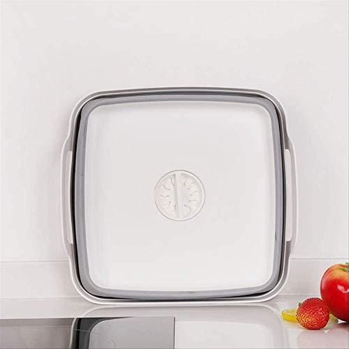 ZRB Dish Drying Rack, Plastic Sink Washable Dishes Washable Folding Drain Basket Home Kitchen Fruit Travel Storage Square,Drainer Shelf