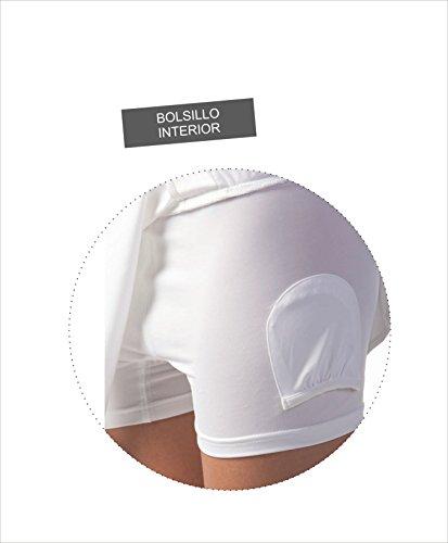 Asioka 97/13 Falda Pantalón de Pádel o Tenis, Mujer, Blanco, XL