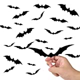 44PCS Halloween 3D Bats Decoration 2021 Upgraded, Antetek 4 Different Sizes Realistic PVC Scary Black Bat Sticker for Home Decor DIY Wall Decal Bathroom Indoor Hallowmas Party Supplies