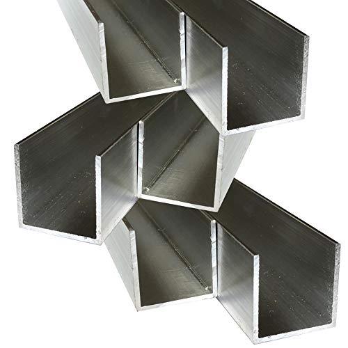 Alu U-Profil 35 x 35 x 35 x 2,0 mm Aluminium AlMgSi0,5 U-Stab Profil Aluprofil U-Stange (150 cm)