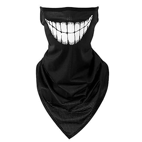 Face Mask Reusable, Ear-Hook Design Stylish face Bandana mask face Cover Neck Gaiters for Women Men (Smile face)