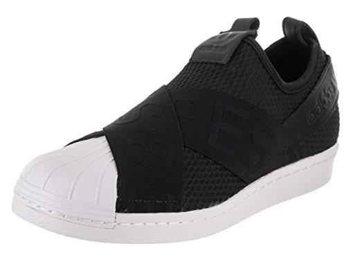 adidas Originals Women's Superstar Slipon W Sneaker Running Shoe, core Black/White, 8 M US
