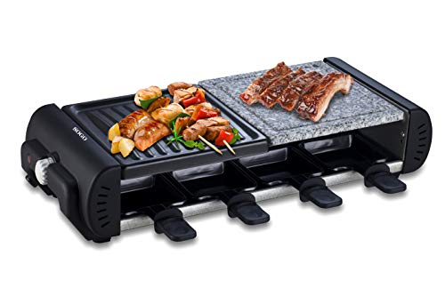 SOGO SS-10370 Parrilla Eléctrica con Grill, Plancha de Piedra y Raclette para...