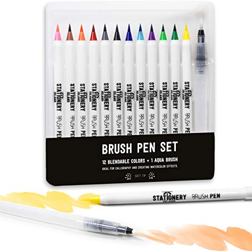 Stationery Island Brush Pens Set 12 Colores Esenciales