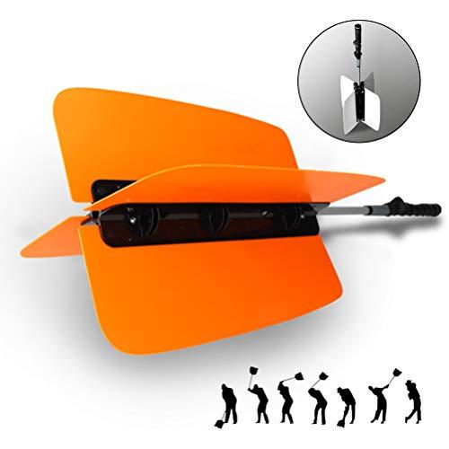 XYZLEO Golf Sticks Kraftfertigkeit Golftraining Widerstandstrainer Golf Trainingshilfen AufwäRmen des LüFters Golfschwungtrainer Verbessere Das Niveau Von Golf Alignment Stick,Orange
