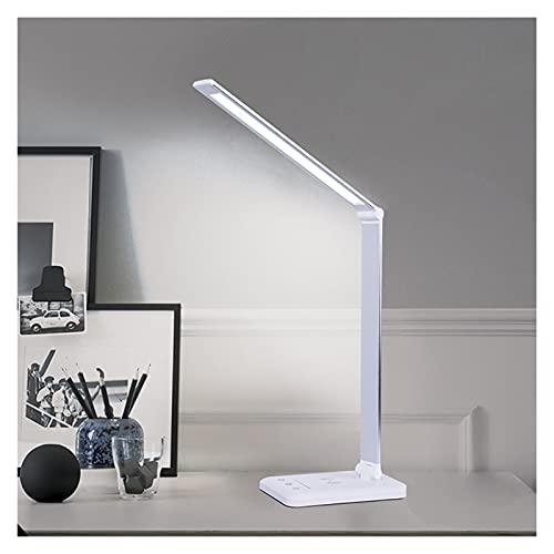 Lámparas de escritorio Lámpara de escritorio LED inalámbrico y USB Lámpara de escritorio de carga 3 Modos de iluminación Timmable Timmible Temporizador de cuidado de ojos 20W Iluminación interior