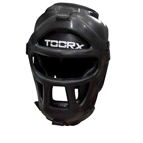 Toorx - Casco Boxe / kick boxing in Pelle Sintetica con griglia in Policarbonato L/XL