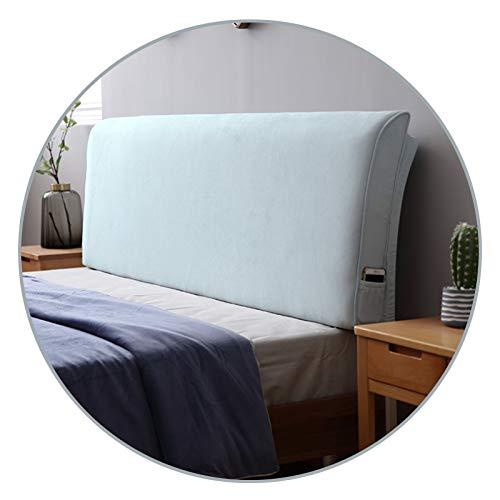 Cojín grande para cabecera de cama, soporte de respaldo extra grande con funda extraíble lavable para todos los salones, 9 colores QianDa (color: B-azul, tamaño: 200 x 58 x 10 cm)