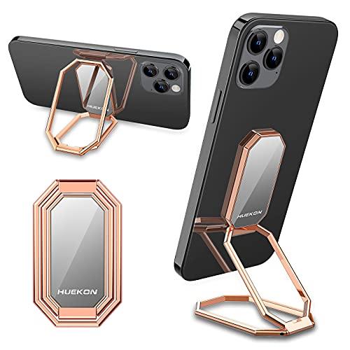 Soporte de dedo para teléfono con anillo de metal, soporte plegable para teléfono celular, rotación de 360 °, compatible con iPhone, iPad, smartphones y tabletas