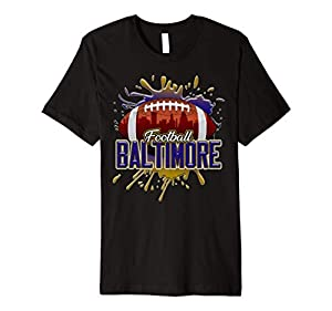 Baltimore Football Shirt | Retro Vintage Maryland Raven Premium T-Shirt