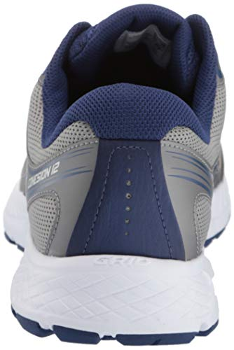 Saucony Men's Versafoam Cohesion 12 Road Running Shoe, grey/blue, 7.5 M US