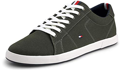 Tommy Hilfiger Iconic Long Lace Sneaker, Zapatillas Hombre, Verde (Army Green Rbn), 43 EU