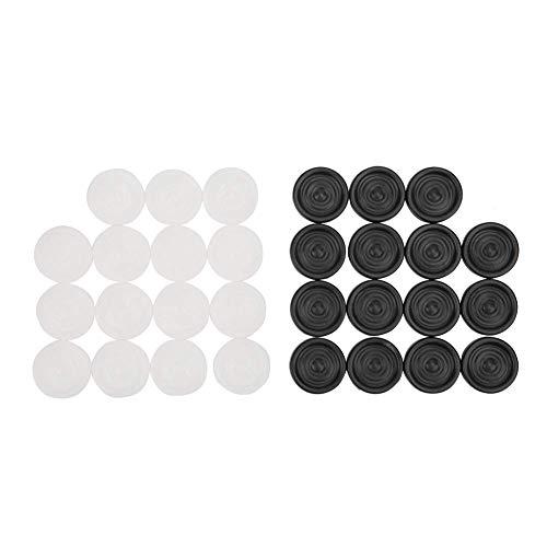 Garosa 22mm Plástico Negro Blanco Backgammon y fichas Ficha