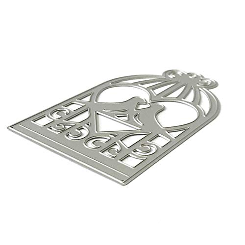 NAttnJf Fustelle per goffratura, per decorazione a forma di casetta degli uccelli, colore argento
