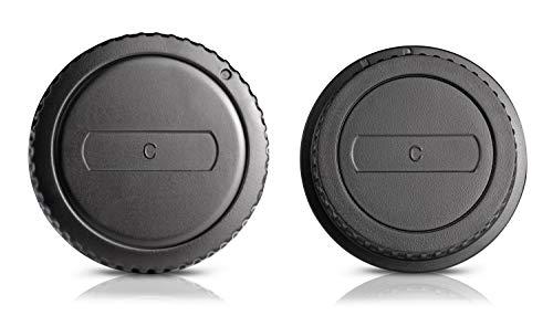 Coperchio della custodia + tappo posteriore della lente per Canon EOS-1D C EOS-1D C EOS-1D X EOS 5DS R 5D Mark III 6D 7D 7D Mark 70D 60Da 750D 760D 700D 1200D 1200D 7D 60D 650D 600D 600D 5D Mark II
