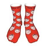 better daily life Calcetines faciales personalizados con múltiples caras para hombres, mujeres y niños, calcetines faciales personalizados Idea de Navidad, imagen y texto personalizados