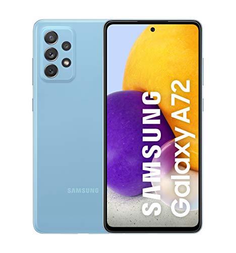 Samsung Smartphone Galaxy A72 con Pantalla Infinity-O FHD+ de 6,7 Pulgadas, 6 GB de RAM y 128 GB de Memoria Interna Ampliable, Batería de 5000 mAh y Carga Superrápida (ES Versión)